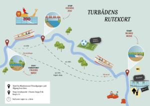 Turbåd rute kort